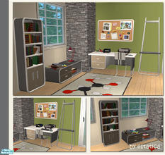 Sims 2 — Dilbert Modern Office - Grey Recolour by estatica — A grey recolour of the Dilbert Modern Office for your