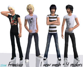 Sims 2 — Maleness - Collection 09 for Teen Males by francisssko — 1 New mesh + 4 recolors! Enjoy ;P!