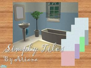 Sims 2 — Simply Tiles by Ariana31Player — A nice set of tiles for your bath in sweet colors