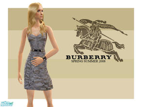 Sims 2 — Burberry Spring Summer 2008 by lemonloveshane — A set consisting of 3 outfits designed for Burberrry fashion