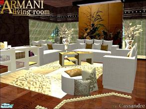 Great ARMANI LIVING ROOM In Golden Part 10