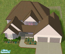Sims 2 — #121066 by brittie — A spacious and very proportional home. Features: Family room, Dining room, Parlor, Kitchen