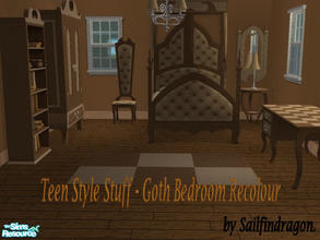 Gothic Bedroom Recolour & Sims 2 Room Sets - \u0027gothic\u0027