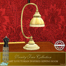 Sims 2 — Vanity Fair Sewing Room - Sewing Tablelamp Mesh by Cashcraft — A favorite pastime for Victorian Ladies--sewing!