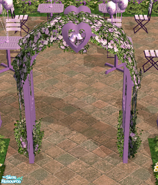 Wedding Altar Sims 2: HeartSpirit's Purple Rose Wedding Arch