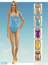 "Sims 2 — ""Swum\"" by LLS by lemonloveshane — A set of 4 gorgeous swimsuits and a bonus Victoria\'s Secret"
