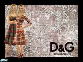 Sims 2 — D&G Fall Winter 2008-09 by lemonloveshane — The beautiful D&G fall collection. It looks like D&G is