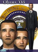 Sims 2 — Barack Obama by heavensent6 — My first attempt at creating a celebrity sim. Not perfect but not bad either...lol