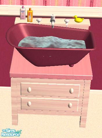 Simaddict9939s gr baby bath for Baby bathroom needs sims freeplay
