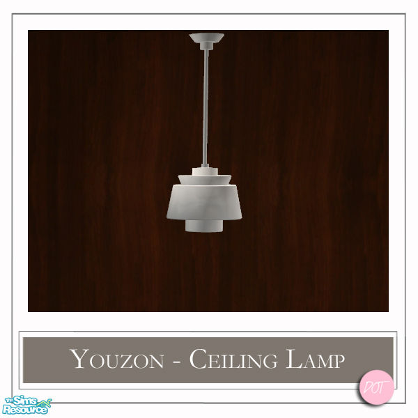 Ceiling Lamp The Sims 4: DOT's Youzon Ceiling Lamps Silver