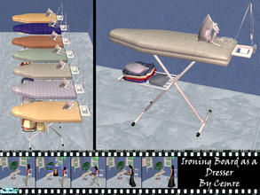 Sims 2 — Ironing Boards as a Dresser by cemre — You can use it as a dresser or for your decoratian purposes.. Six