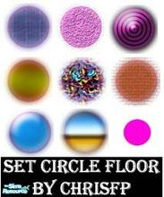 Sims 2 — Set Circle Floor by chrisfp — 9 colors