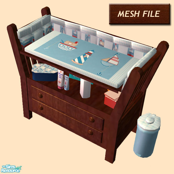 Cemre39s changing table with drawers for Sims freeplay baby bathroom