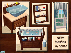 Sims 2 — Add on Items for Nautical Themed Nursery by cemre — This set contains working baby bath (you can find it on