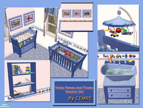 Sims 2 — Trains Planes and Trucks Nursery Set by cemre — Trains Planes and Trucks theme used in this set. This set