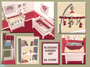 Sims 2 — Blossoms Nursery Set by cemre — Flowers, butterflies and mushrooms.. This set includes new mesh recolors. Some