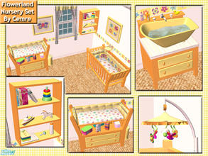 Sims 2 — Flowerland Nursery Set by cemre — This set includes new mesh recolors. Some objects need mesh files on my