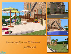 Sims 2 — Rosemary Dorms (6 Rooms) by maja89 — Great dormitory, where is everything your students need, cafeteria, disco