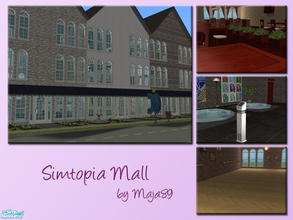 Sims 2 — Simtopia Mall by maja89 — Wonderful building which contains cafe, restaurant, grocery store, h&m store, book