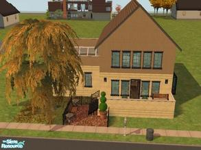 Sims 2 — Experimental Townhome by ianbradley26 — This literally built itself into a well-proportioned home. The design