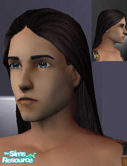 gwynne's Long Male Hair, Swept Back