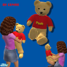 Sims 2 — Winnie the Pooh Bear by cemre — Part of a Set.. You can download Winnie the Pooh bedding in another download..