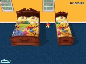 Sims 2 — Winnie the Pooh Bedding by cemre — Winnie the Pooh Bedding.. Available in all bed types..