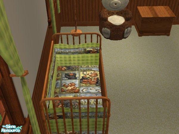 Toriamos 39 fishing bear crib bedding for Fishing crib bedding