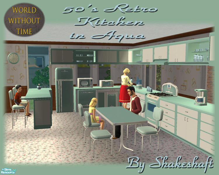 Fine Shakeshafts 50S Retro Kitchen Aqua Home Interior And Landscaping Ologienasavecom