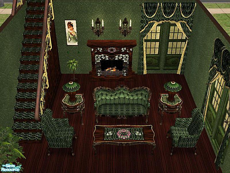 Cori27s Green Victorian Living Room Set