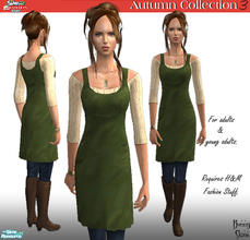 Sims 2 — H&M Autumn Collection: Green Tunic, Jeans & Boots by BunnyTSR — A stylish & cosy outfit comprising