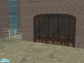 Sims 2 — Arch Frame Garage - Rusty Black by Shakeshaft — Part of a recolour set of the Arch Frame Garage, set includes