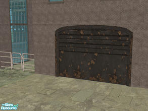 Sims 2 — Arch Frame Garage - Rusty Black 02 by Shakeshaft — Part of a recolour set of the Arch Frame Garage, set includes