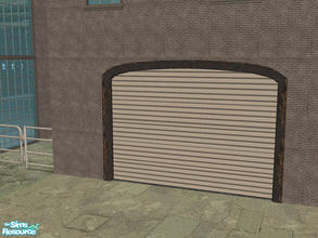 Sims 2 — Arch Frame Garage - Rusty Black Frame by Shakeshaft — Part of a recolour set of the Arch Frame Garage, set