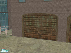 Sims 2 — Arch Frame Garage - Rusty Green by Shakeshaft — Part of a recolour set of the Arch Frame Garage, set includes