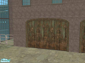 Sims 2 — Arch Frame Garage - Rusty Green 02 by Shakeshaft — Part of a recolour set of the Arch Frame Garage, set includes