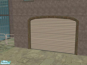 Sims 2 — Arch Frame Garage - Rusty Green Frame by Shakeshaft — Part of a recolour set of the Arch Frame Garage, set