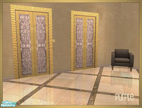 Sims 2 — Arabesque inspired elevator recolors - purple by senemm — A set of 6 arabesque inspired elevator recolors in