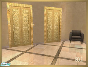 Sims 2 — Arabesque inspired elevator recolors - golden by senemm — A set of 6 arabesque inspired elevator recolors in