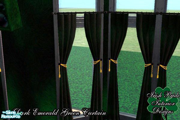 Dark Green Curtains Dark Emerald Green Curtains