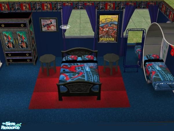 jeyca\'s Spiderman Bedroom Set