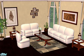 Sims 2 — Albatros Collection Livingroom by cemre — Dark brown, brown and white colored set includes, Sofas,