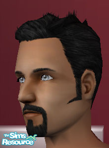how to make goatee pointy