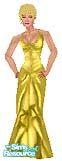 Sims 1 — GoldLame by TSR Archive — Sexy frilly gold lame` for your Sims. Head not included. Skin comes in all three