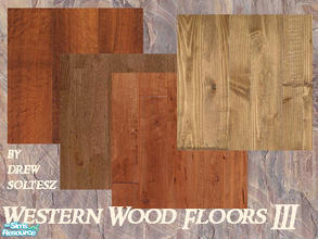 Sims 2 — Western Wood Floors III by drewsoltesz — A collection of 4 rough and ready wood floors, ideal for that ranch or