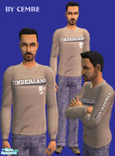 Sims 2 — Timberland sweatshirt with Jeans by cemre — Timberland sweatshirt with Jeans and recolored shoes...