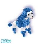 Sims 1 — Xmas Blu by TSR Archive — A white poodle all bundled up for the cold winter weather and is waiting patiently for