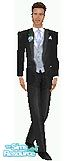 Sims 1 — Sean by TSR Archive — This is the tux the groom, best-man, and groomsmen wore at my daughters wedding. Head not