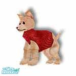 Sims 1 — Pedro Red by TSR Archive — This little PARIS pooch want-a-be is wearing a designer angora knit sweater, comes in