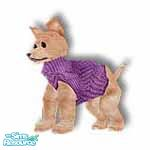 Sims 1 — Pedro Purple by TSR Archive — This little PARIS pooch want-a-be is wearing a designer angora knit sweater, comes
